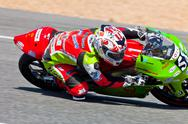 Stock Photo of juanfran guevara pilot of 125cc  of the cev championship