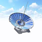 Satellite dish with clipping path Stock Illustration