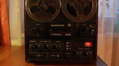Vintage reel to reel tape recorder, SOUND Full HD 1080p - stock footage