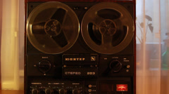 Vintage reel to reel tape recorder, SOUND,  Full HD 1080p - stock footage