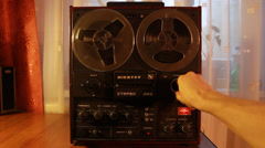 Vintage reel to reel tape recorder, Real Time Tuning, SOUND, Full HD 1080p - stock footage
