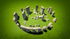 stonehenge - stock illustration