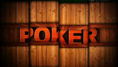 POKER Text in Slot Machine Combination, Loop Stock Footage