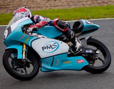 Stock Photo of alan techer pilot of 125cc in the cev