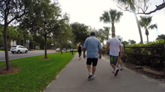Fitness trail fast forward Stock Footage