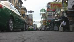 Vehicles Arrive Early Morning Khaosan Road  Stock Footage