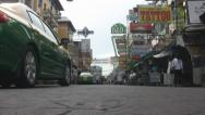 Stock Video Footage of Vehicles Arrive Early Morning Khaosan Road