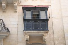 Balcony in Valletta, Malta Stock Photos