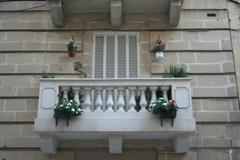 Balcony in Valletta, Malta - stock photo