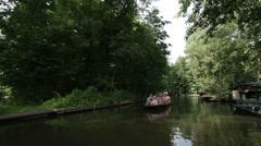 Boat trip, Spreewald 04 Stock Footage