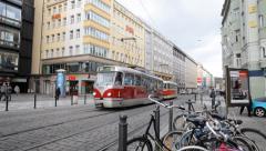 Prague Tram Stock Footage