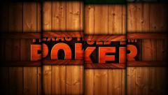 TEXAS HOLD'EM POKER Text in Slot Machine Combination, Loop Stock Footage