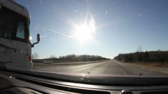 Time lapse of motor home passing on high way Stock Footage