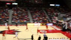 Incredible half court basketball shot Stock Footage