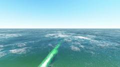Oil pipeline underwater Stock Footage