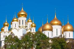 Moscow Kremlin Cathedrals Stock Photos