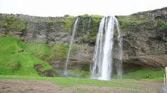Seljalandsfoss waterfall Stock Footage