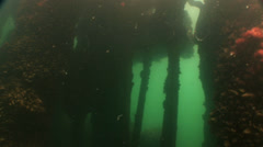 Underwater shipwreck Stock Footage