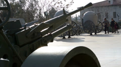 Families visiting the War Museum - stock footage