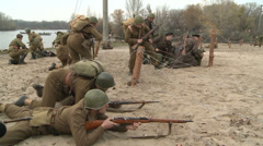 Soldiers attack the enemy. Stock Footage