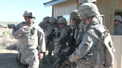 US - 41. Infantry Brigade Training 04 - Soldiers Exercise 01 Stock Footage