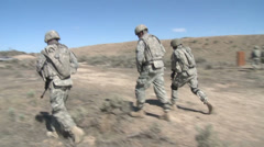 US - 41. Infantry Brigade Training 04 - Soldiers Exercise 02 Stock Footage