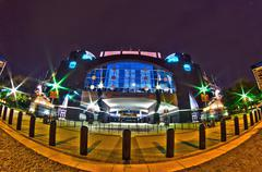 1st january, 2014, charlotte, nc, usa - night view of carolina panthers stadium - stock photo