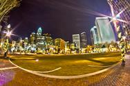 Stock Photo of charlotte, nc, usa - charlotte skyline near romare bearden park