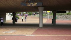 Fan Walk Cape town Stadium Stock Footage