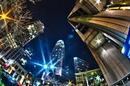 Stock Photo of  charlotte, nc, usa - nightlife around charlotte north carolina