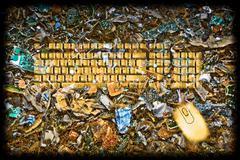 reuse e scrap concept - stock illustration