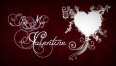Filigree Valentine Stock Footage