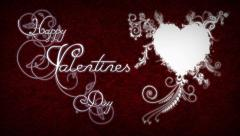Filigree Happy Valentines Day Stock Footage