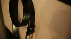 Hanging Belt Stock Footage