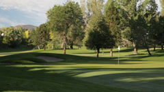 1033 - generic, early morning hidden green at golf course Stock Footage