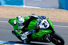 Stock Photo of ivan silva pilot of stock extreme of the cev championship
