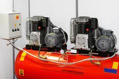 Double air compressor Stock Photos