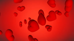 4K. Red hearts for you - love, valentine's day. Stock Footage