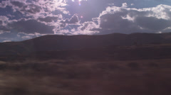 Roadside View from A Moving Convertible: Desert, Mountain, Cloudscape Stock Footage