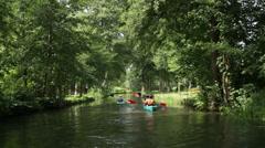 Boat trip, Spreewald 06 Stock Footage