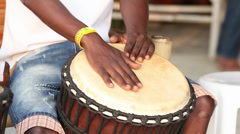 African drum Stock Footage