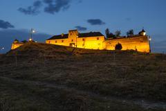 Twilight view of brasov citadel Stock Photos