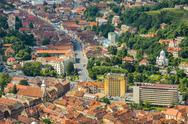 Stock Photo of brasov aerial view, romania