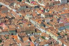Aerial view of brasov, romania Stock Photos