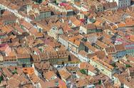 Stock Photo of aerial view of brasov, romania