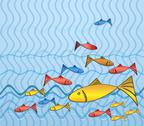 Stock Illustration of fish on the trip