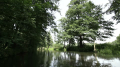 Boat trip, Spreewald 08 Stock Footage