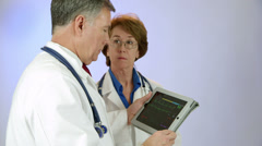 Remote monitoring medical technology for doctors Stock Footage