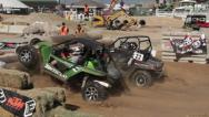 Stock Video Footage of UTV Race Head to Head HD6261