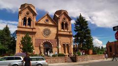 St. Francis Cathedral New Mexico Stock Footage